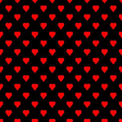 ハート柄の背景透過PNGイラスト・パターン素材(赤色)