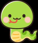 かわいい蛇のイラスト