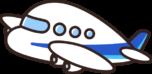 かわいい飛行機のイラスト(青)