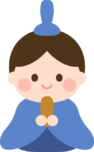 ひな人形のイラスト(お内裏様)
