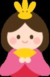 ひな人形のイラスト(お雛様)