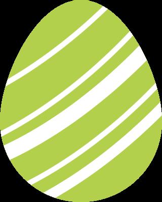 イースターのたまごのアイコンイラスト(黄緑)