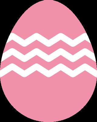 イースターのたまごのアイコンイラスト(ピンク)