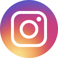 Instagram(インスタグラム)のアイコンイラスト<丸・カラー>