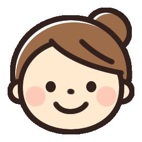 笑顔の女性のイラストアイコン