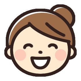 笑っている女性のイラストアイコン