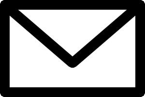 メールアイコンの白黒イラスト1