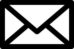 メールアイコンの白黒イラスト2
