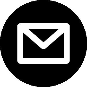 メールアイコンの白黒イラスト3