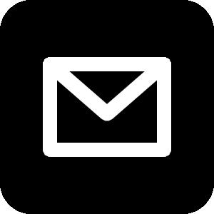 メールアイコンの白黒イラスト4