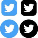 Twitter(ツイッター)のSNSアイコンイラスト
