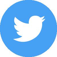 Twitter(ツイッター)のSNSアイコンイラスト<丸・カラー>