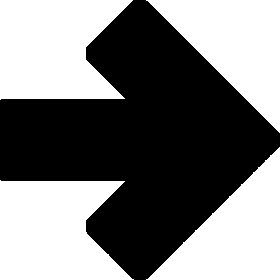 矢印アイコンのシルエットイラスト素材07