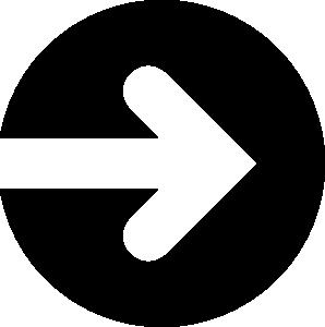 矢印アイコンのシルエットイラスト素材09