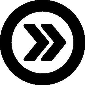 矢印アイコンのシルエットイラスト素材14