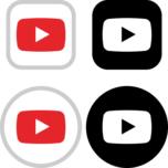 YouTube(ユーチューブ)のアイコンイラスト