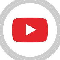 YouTube(ユーチューブ)のアイコンイラスト<丸・カラー>