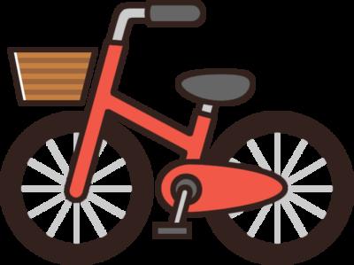 かわいい自転車のイラスト