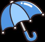 青色の傘のイラスト