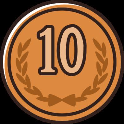10円玉(小銭・硬貨・貨幣)のイラスト素材