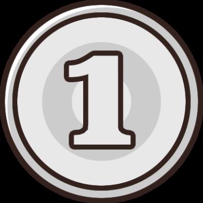 1円玉(小銭・硬貨・貨幣)のイラスト素材
