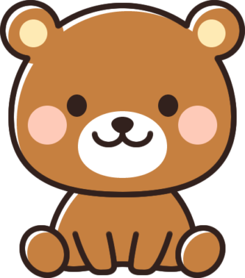 かわいい熊のイラスト