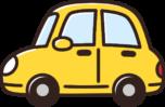 かわいい車のイラスト(黄色)
