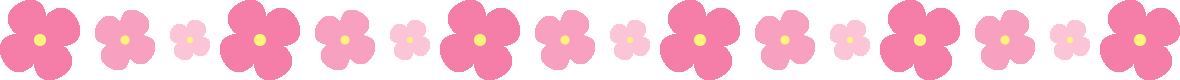 ピンクのアジサイのライン飾り罫線イラスト