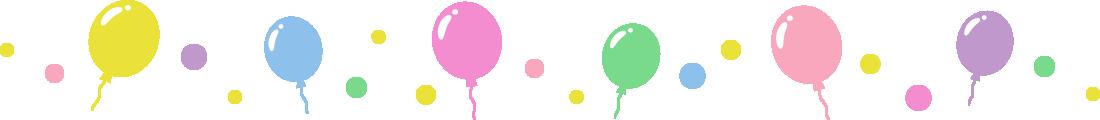 風船のライン飾り罫線イラスト1