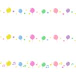 風船のライン飾り罫線イラスト