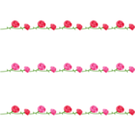カーネーションのライン飾り罫線イラスト