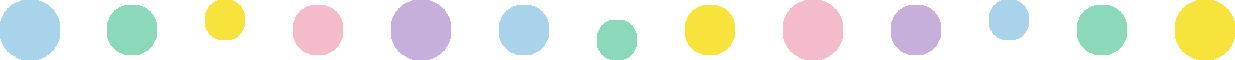 丸い水玉柄のライン飾り罫線イラスト(大)