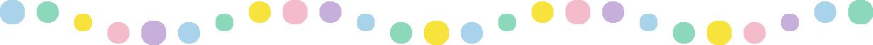 丸い水玉柄のライン飾り罫線イラスト(曲線)