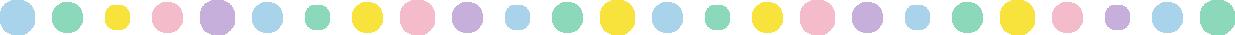 丸い水玉柄のライン飾り罫線イラスト(直線)