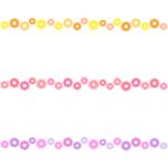 ガーベラのライン飾り罫線イラスト