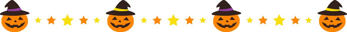 ハロウィンのライン飾り罫線イラスト(カボチャ)