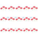 彼岸花畑のライン飾り罫線イラスト