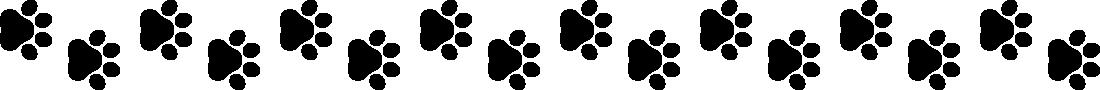 犬の足跡(肉球)のライン飾り罫線イラスト1