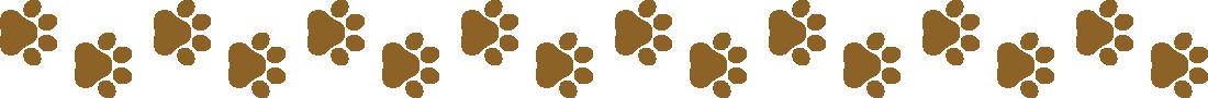 犬の足跡(肉球)のライン飾り罫線イラスト2