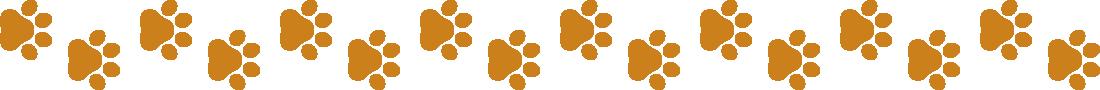犬の足跡(肉球)のライン飾り罫線イラスト3