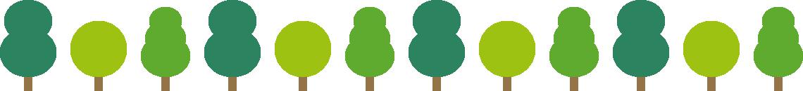 樹木のライン飾り罫線イラスト2