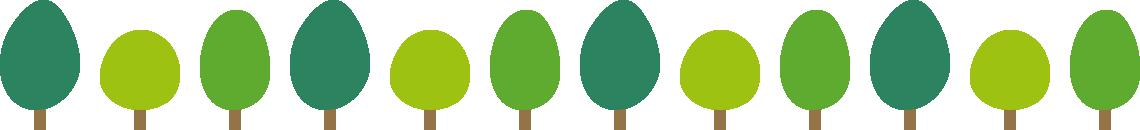樹木のライン飾り罫線イラスト3