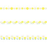 マーガレットのライン飾り罫線イラスト