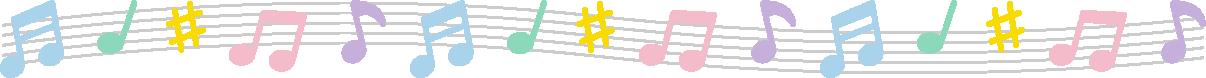 音符のライン飾り罫線イラスト - イラストストック