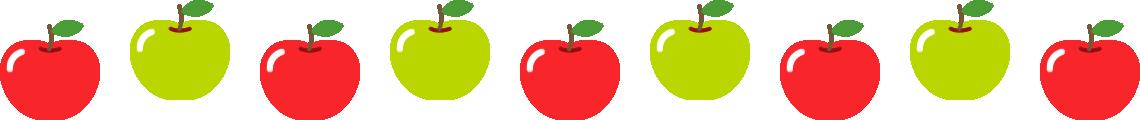 りんごのライン飾り罫線イラスト2