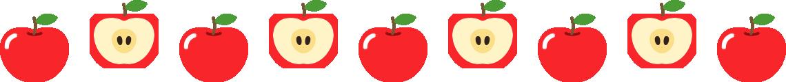 りんごのライン飾り罫線イラスト3
