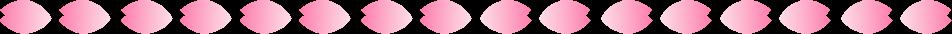 桜の花びらのライン罫線イラスト1