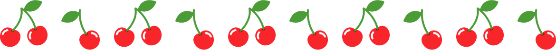さくらんぼのライン飾り罫線イラスト2