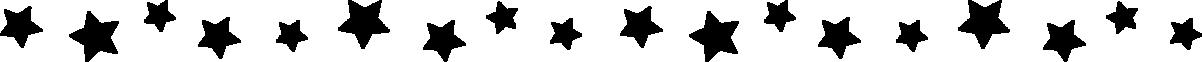 星のライン飾り罫線イラスト(黒)