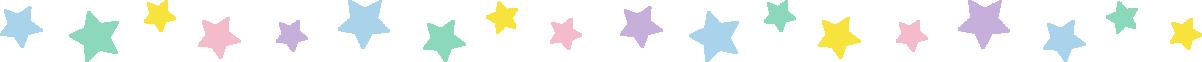 星のライン飾り罫線イラスト(パステル)